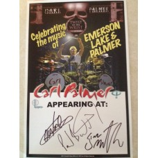 CARL PALMER ELP LEGACY 2013 SIGNED TOUR POSTER- RARE!!